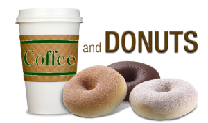 Makerspace coffee and donuts